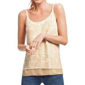 Cabi #798 It Girl Cami cream lace camisole tank sm